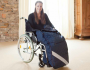 Wheelchair footmuff/leg muff - virgin wool